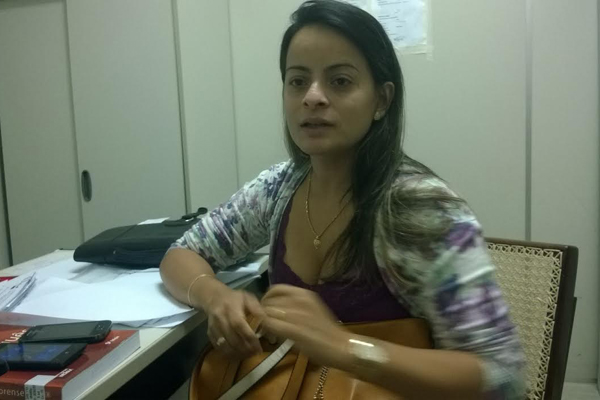 Subcoordenadora de Identidade, Taize Almeida, e o coordenador, Ulisses Bezerra Filho, estão realizando fiscalizações nas unidades