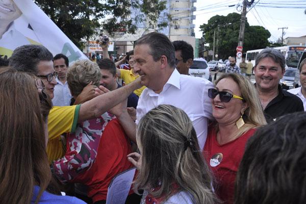 Candidato do PSB à presidência passou a tarde com apoiadores