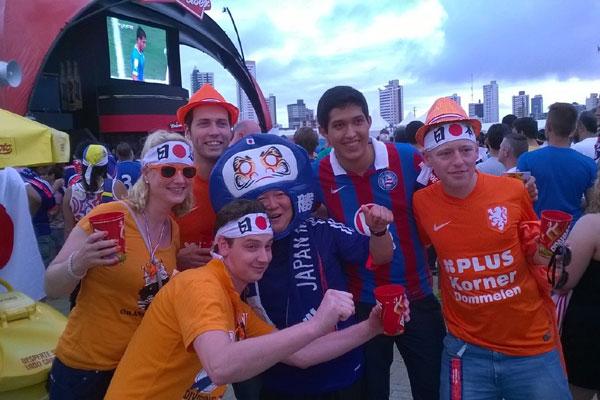 Turistas durante a Copa em Natal: a cidade recebeu quatro jogos na Arena das Dunas e viu crescer a movimentação financeira