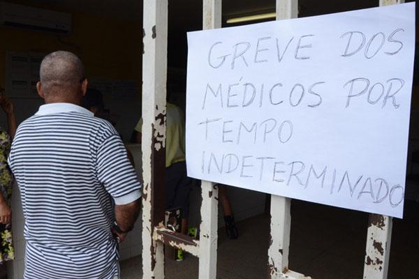 Paralisação atinge 50% dos médicos da UMS Cidade Satélite
