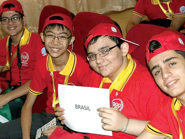 Equipe brasileira vencedora de medalhas em Luanda (Angola)