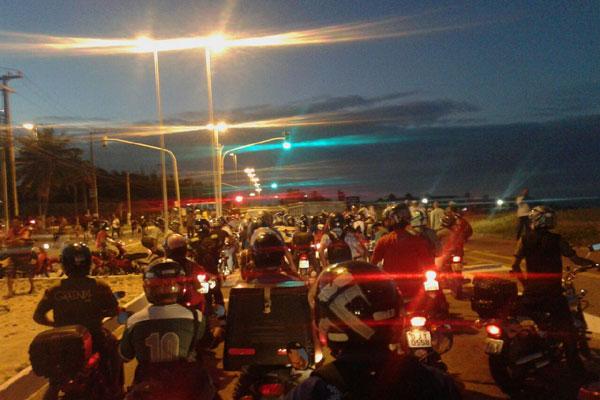 Trânsito na região ficou lento por causa do protesto