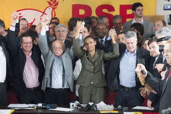 Lideranças do PSB comemoram indicação de Marina e Beto, após reunião realizada em Brasília