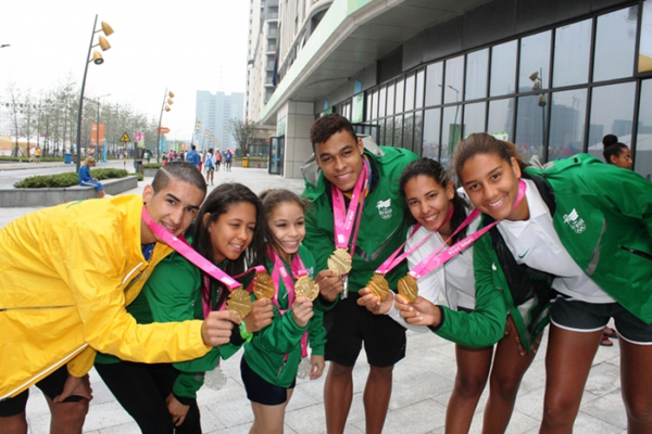 Delegação brasileira conquistou 15 medalhas nos Jogos Olímpicos da Juventude de Nanquim 2014