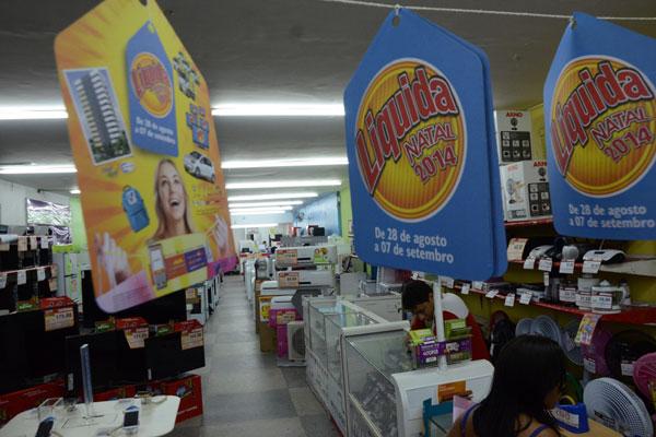 Loja de eletrodomésticos no comércio de Natal: Estabelecimentos já anunciavam ontem participação no período de promoções