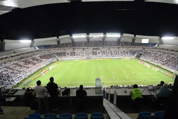 A promessa foi cumprida: além de estabelecer um novo recorde de público, torcida do ABC montou o maior mosaico na história do futebol potiguar na Arena das Dunas