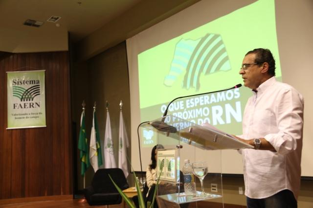 A apresentação de Henrique Alves encerrou os debates organizados pela Faern com os três candidatos mais bem posicionado nas pesquisas eleitorais