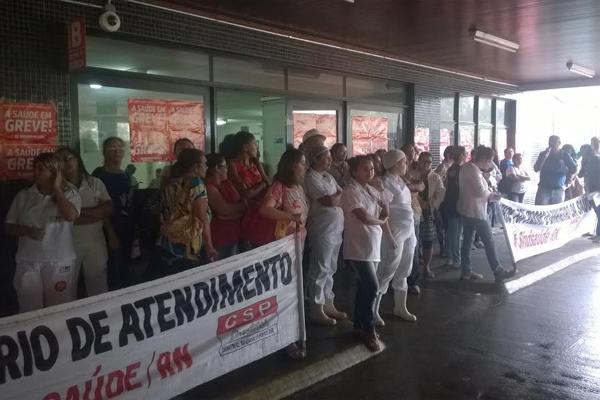 Servidores da Saúde iniciaram greve na manha de ontem