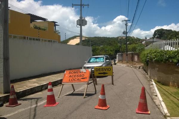 Rua da Praia não tem previsão para ter tráfego de veículos liberado