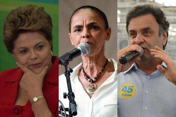 Dilma, Marina e Aécio disputam Presidência da República