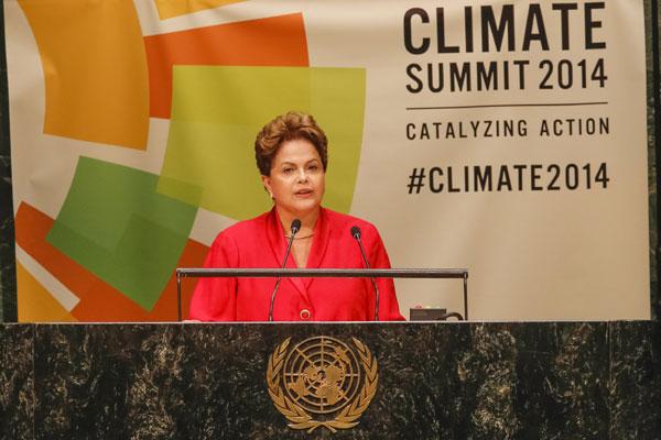 Dilma defende esforço global para combater aquecimento e explica por que Brasil não assinou documento do desmatamento-zero