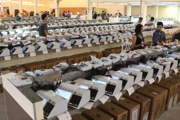 Ao todo, 8.557 equipamentos eletrônicos estão à disposição para serem utilizados nas 69 zonas eleitorais do Rio Grande do Norte