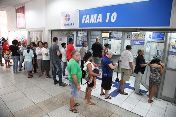 Movimento em lotéricas deve aumentar 30% próxima semana