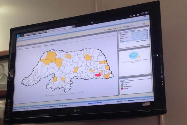 TRE instalou painel que registra ocorrência em urnas em todo o estado