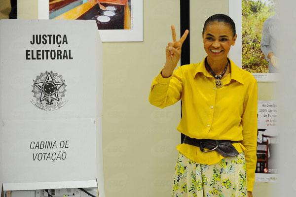 Marina Silva (PSB) ficou na terceira colocação na disputa presidencial