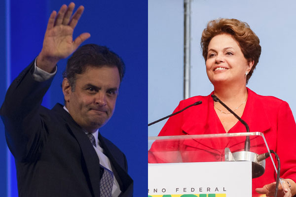 Aécio Neves e Dilma Rousseff disputam o segundo turno