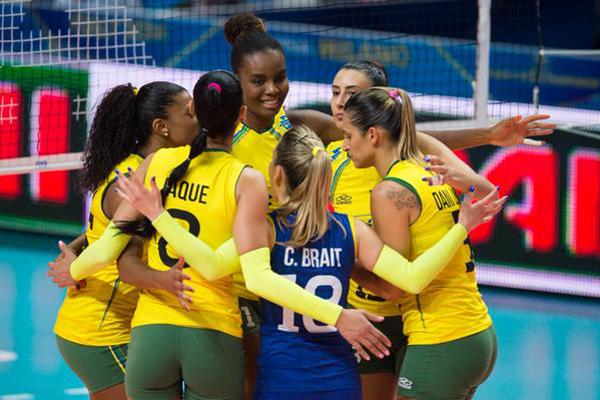 Brasil venceu a República Dominicana por 3 sets a 0