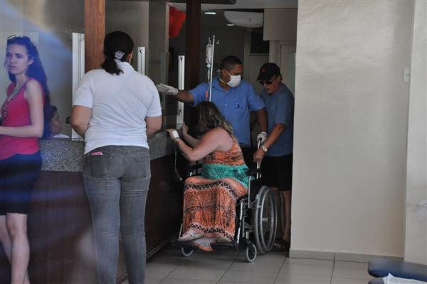 Valéria Alexandre passou mal no momento da prisão e foi levada para realizar exames médicos em um hospital