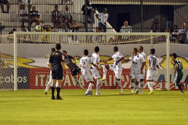 O gol dos visitantes foi marcado por Rubinho, após cobrança de falta