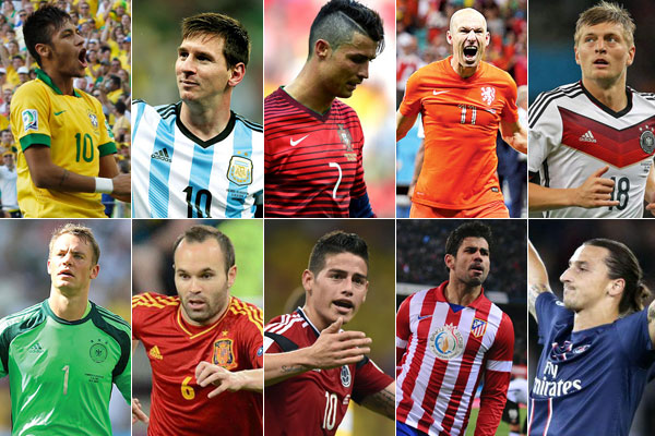 Neymar, Messi, CR7 e companhia disputam prêmio de melhor jogador do mundo