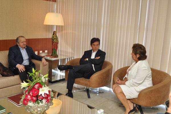 Carlos Augusto, Robinson Faria e Rosalba Ciarlini têm a primeira reunião para tratar de transição