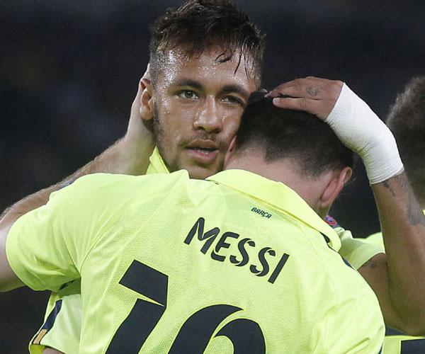 Inspirado, Messi garantiu a classificação antecipada do Barcelona