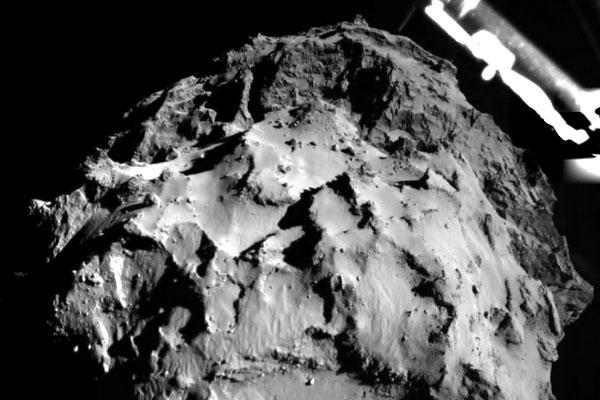 Imagem feita pelo satélite momentos antes da aterrissagem no cometa