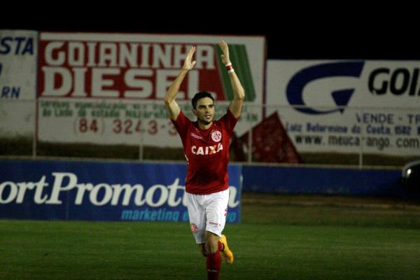 Rodrigo Pimpão abriu o placar para o time potiguar logo no início da partida contra o Icasa