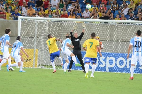 Brasil e Argentina empataram em 3 a 3 na partida entre masters das duas seleções