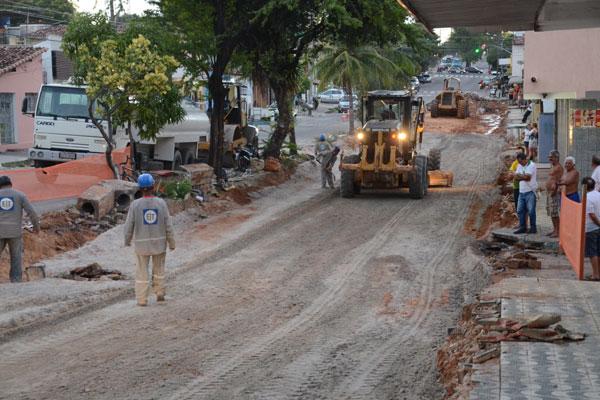 Obras da avenida Jerônimo Câmara faz parte do primeiro binário de Natal, junto à avenida Capitão-Mor Gouveia, em Lagoa Nova