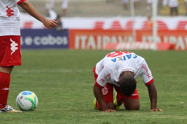 O América perdeu a partida por 4 a 1 e acabou rebaixado para a série C do Campeonato Brasileiro