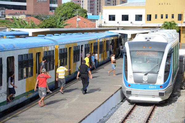 VLT inicia viagens nas linhas férreas de Natal - Tribuna do Norte - Natal