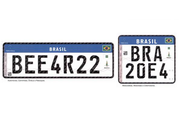 Novas placas serão usadas em veículos registrados a partir de 2016