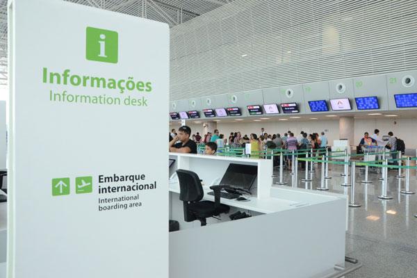 Terminal de passageiros do aeroporto: Movimento vai crescer