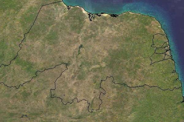 Imagens de satélite mostram que semana será de poucas chuvas no RN