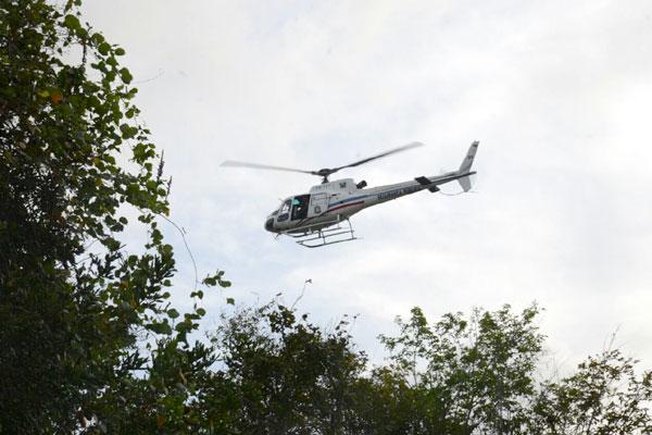 Helicóptero Potiguar 1 foi utilizado em busca de pessoas envolvidas no incidente