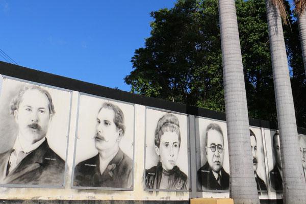 Em Macaíba, praça tem painel que destaca Augusto Severo