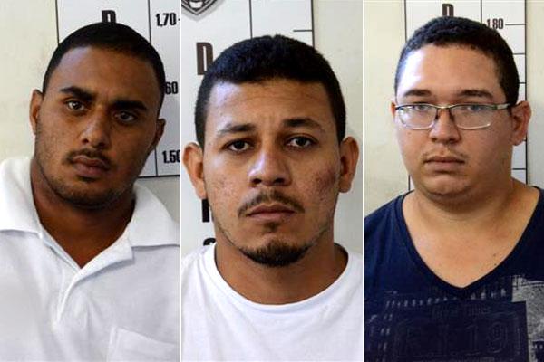 Thiago Serafim da Silva, 28 anos, Marcílio Rodrigues da Silva, 23, e Paulo Henrique França de Souza, 27 anos, foram presos