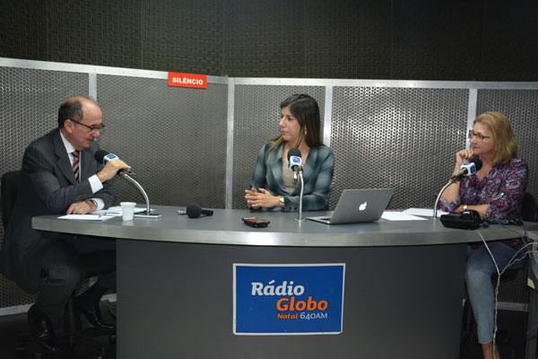 Desembargador Claudio Santos concedeu entrevista ontem à Anna Ruth Dantas e Virgínia Coelli