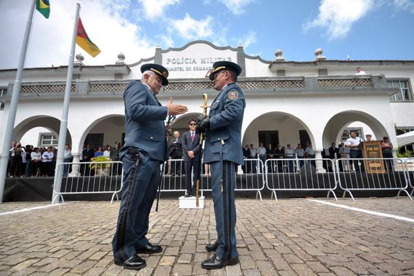 Passagem de comando na Polícia Militar do RN ocorreu na manhã de ontem com a presença do governador Robinson Faria