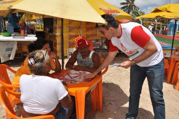 Além das praias, o Ministério Público também visita bares, restaurantes e boates