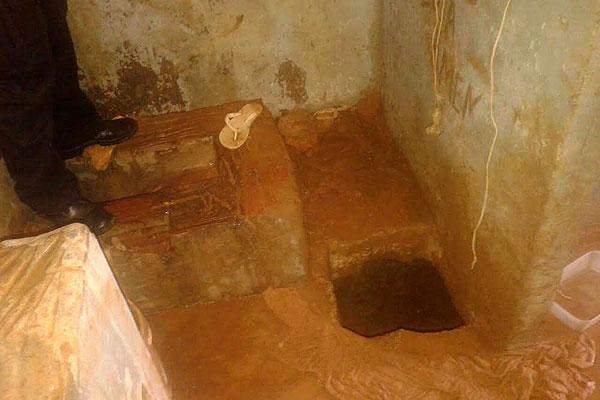 Túnel estava sendo cavado no interior de uma das celas