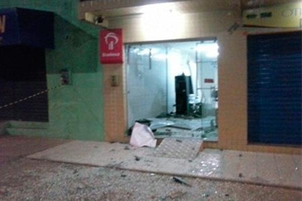 Agência do Bradesco em São Pedro é quarta explodida por criminosos em pouco mais de uma semana