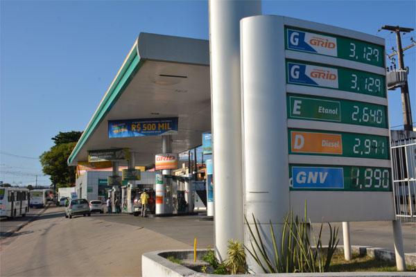 No Rio Grande do Norte, preço mais frequente do litro da gasolina antes do aumento é de R$ 3,12