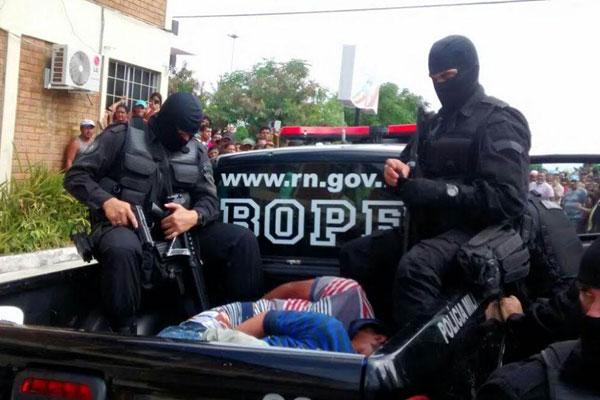 Chego ao fim sequestro em Canguaretama, bandidos foram levados para Delegacia