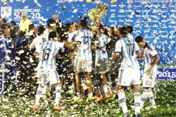 Argentina venceu o Uruguai por 2 a 1 e garantiu o título do Sulamericano sub-20