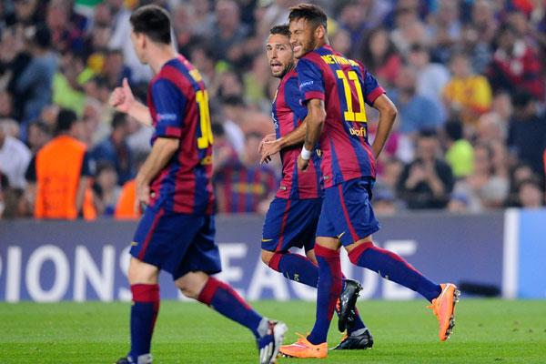 Neymar, que vem sendo muito elogiado pelos espanhóis, dessa vez teve papel de coadjuvante