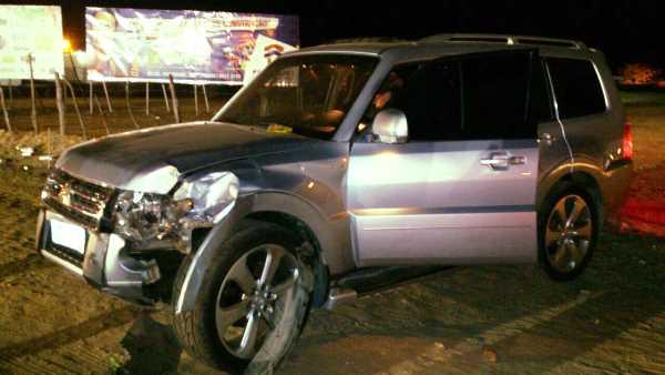Pajero ficou danificada após acidente em Caicó
