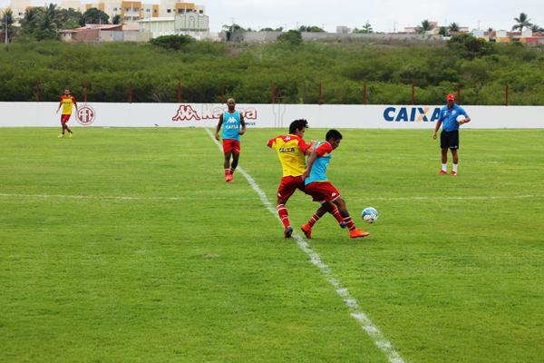 América realizou último treinamento antes da partida contra o Vitória no CT Abílio Medeiros, em Parnamirim