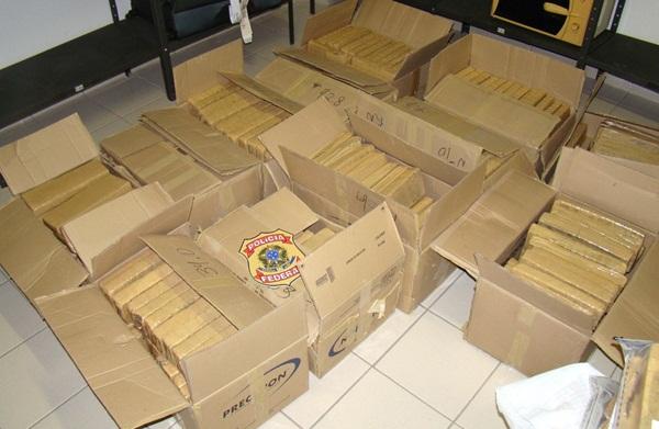 Foram apreendidos 492,5 quilos de maconha